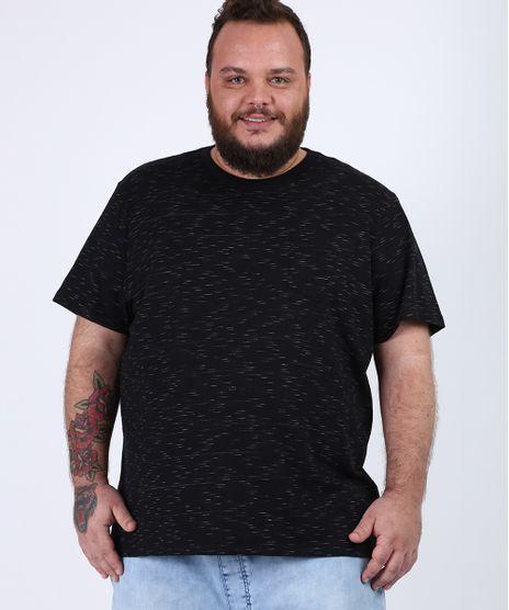 Camiseta-Masculina-Plus-Size-com-Bolso-Manga-Curta-Gola-Careca-Preta-9956876-Preto_1