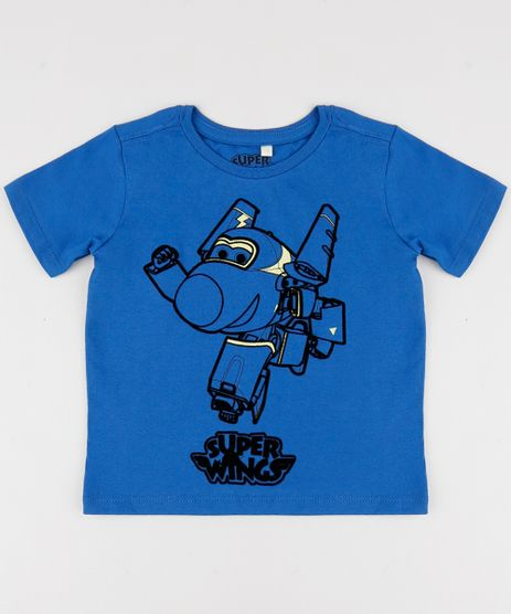 Camiseta-Infantil-Super-Wings-Manga-Curta-Gola-Careca-Azul-9957528-Azul_1