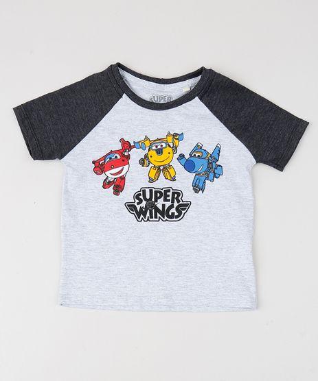Camiseta-Infantil-Super-Wings-Manga-Curta-Raglan-Gola-Careca-Cinza-Mescla-9957529-Cinza_Mescla_1