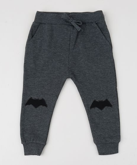 Calca-em-Moletom-Infantil-Batman-Cinza-Mescla-9358066-Cinza_Mescla_1
