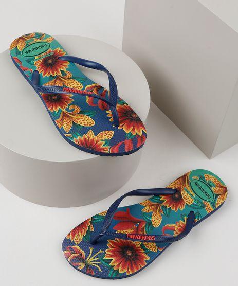 Chinelo-Feminino-Havaianas-Slim-Estampado-Floral-Azul-Marinho-9951952-Azul_Marinho_1