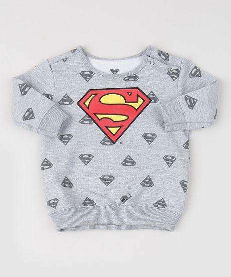 Blusao-de-Moletom-Infantil-Super-Homem--Cinza-9954375-Cinza_1