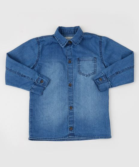 Camisa-Jeans-Infantil-com-Bolso-Manga-Longa-Azul-Medio-9947441-Azul_Medio_1