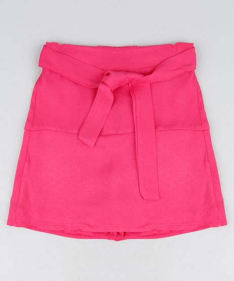 Short-Saia-Infantil-com-Faixa-para-Amarrar-Pink-9950191-Pink_1