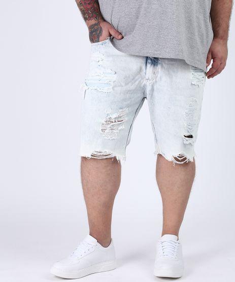Bermuda-Jeans-Masculina-Plus-Size-Slim-Destroyed-Azul-Claro-9951312-Azul_Claro_1