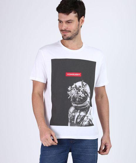 Camiseta-Masculina-Astronauta-com-Flores-Manga-Curta-Gola-Careca-Branca-9677238-Branco_1