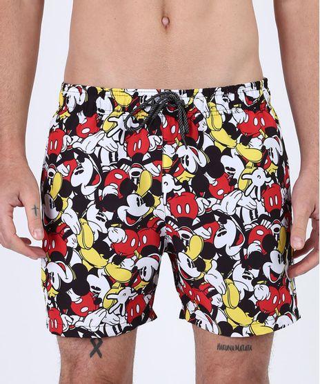 Short-Masculino-Mickey-Mouse-Relaxed-com-Bolsos-e-Cordao-Preto-9955402-Preto_1