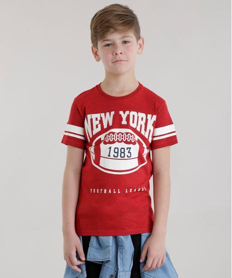 Camiseta--New-York-Football-League--Vermelha-8684056-Vermelho_1