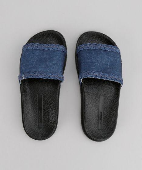 e52743ff07 Chinelo-Slide-Molekinha-com-Jeans-Preto-8727470-Preto_1 ...