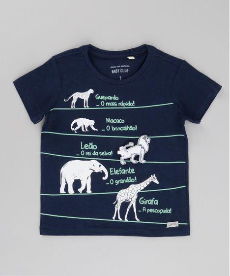 554eb79c2 Camiseta-Animais-da-Savana-Azul-Marinho-8683417-Azul Marinho 1 ...