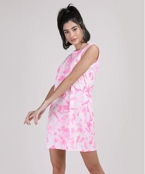 Vestido-Feminino-Curto-Estampado-Tie-Dye-Sem-Manga-Rosa-9950573-Rosa_1