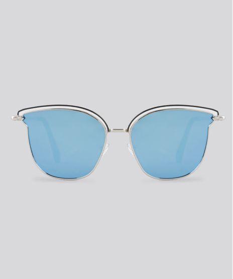 Oculos-de-Sol-Redondo-Espelhado-Feminino-Oneself-Prateado-8759536-Prateado_1