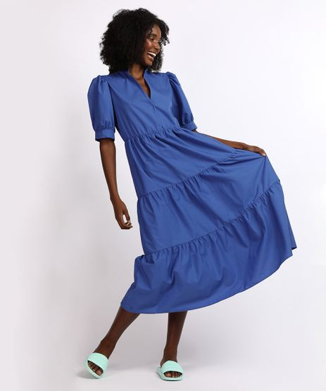 Vestido-Feminino-Mindset-Midi-com-Recortes-Manga-Bufante-Azul-9958197-Azul_1