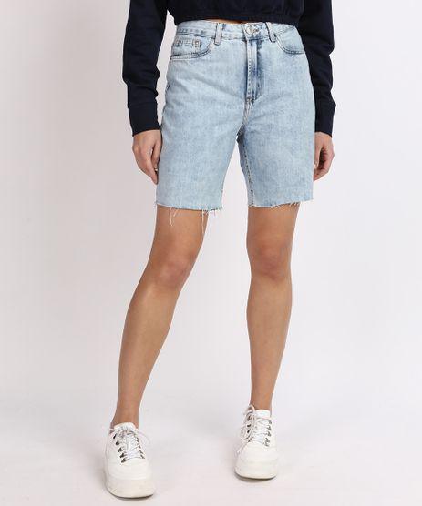Bermuda-Jeans-Feminina-Mindset-Reta-Cintura-Media-com-Bolsos-Azul-Claro-9955887-Azul_Claro_1