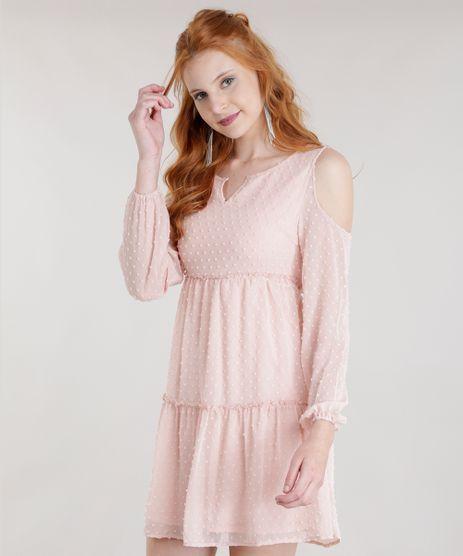 Vestido-Open-Shoulder-Texturizado-Rose-8593610-Rose_1