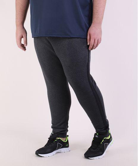 Calca-de-Moletom-Masculina-Plus-Size-Esportiva-Ace-Jogger-com-Faixa-Lateral-Cinza-Mescla-Escuro-9952127-Cinza_Mescla_Escuro_1