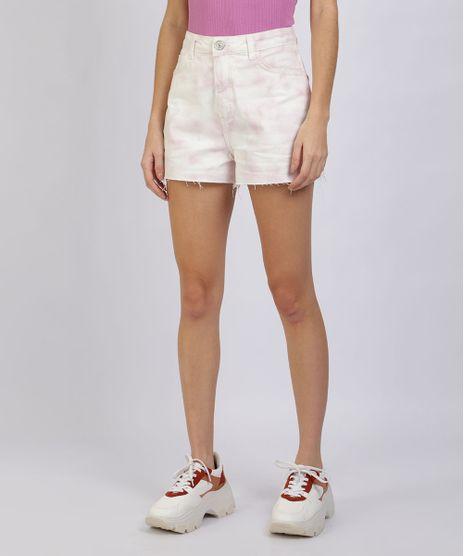 Short-de-Sarja-Feminino-Vintage-Estampado-Tie-Dye-Cintura-Super-Alta-Lilas-9955848-Lilas_1