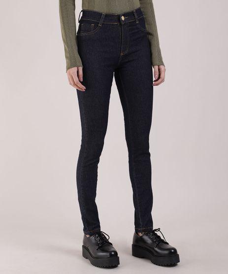 Calca-Jeans-Feminina-Sawary-Super-Skinny-Cintura-Alta-Azul-Escuro-9617983-Azul_Escuro_1