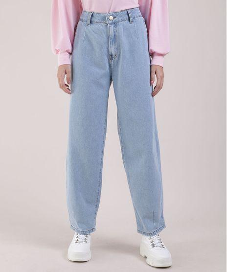 Calca-Jeans-Feminina-Sawary-Baggy-Cintura-Super-Alta-com-Bolsos-Azul-Claro-9952539-Azul_Claro_1