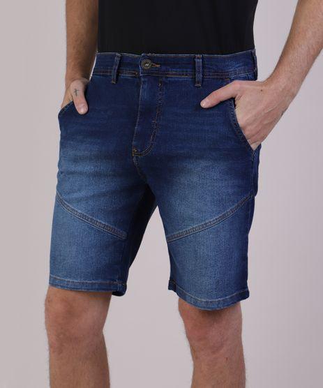 Bermuda-Jeans-Masculina-Reta-com-Bolsos-e-Recortes-Azul-Escuro-9942171-Azul_Escuro_1