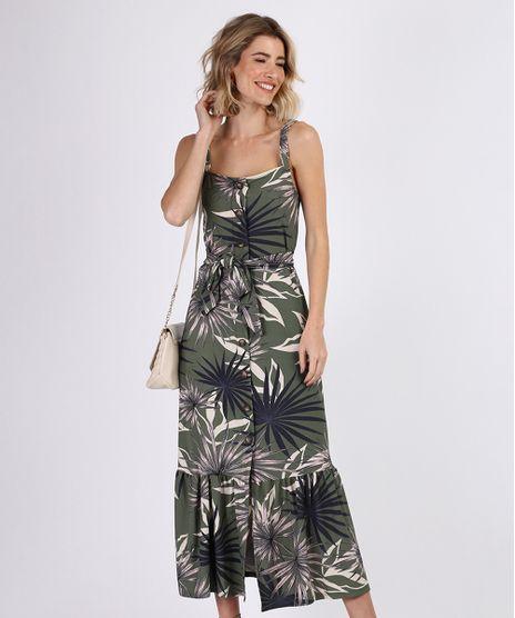 Vestido-Feminino-Midi-Estampado-de-Folhagem-com-Faixa-para-Amarrar-Alca-Media-Verde-9942188-Verde_1
