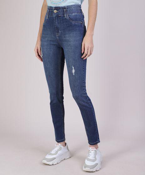 Calca-Jeans-Feminina-Sawary-Cigarrete-Cintura-Alta-Azul-Escuro-9952537-Azul_Escuro_1
