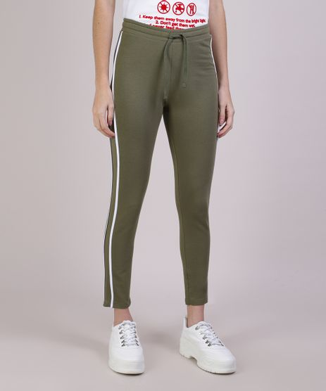 Calca-Legging-Feminina--em-Moletom-Verde-Escuro-9445259-Verde_Escuro_1