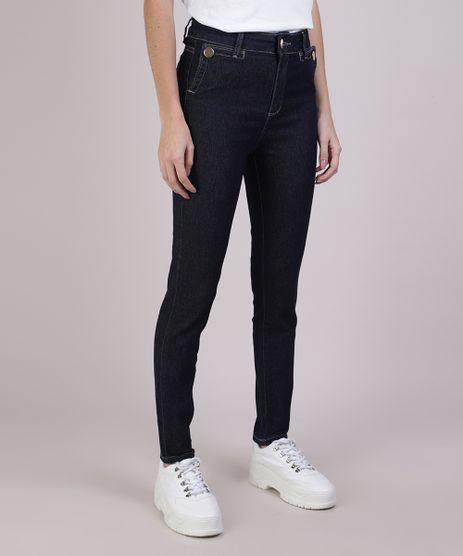 Calca-Jeans-Feminina-Sawary-Cigarrete-Cintura-Alta-Azul-Escuro-9952545-Azul_Escuro_1