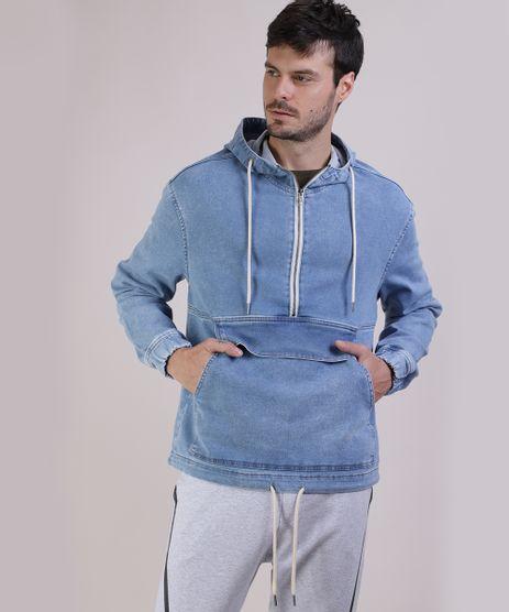Jaqueta-Jeans-Masculina-Trucker-Jeans-Moletom-Azul-Claro-9952761-Azul_Claro_1