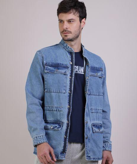 Parka-Jeans-Masculina-com-Bolsos-Azul-Claro-9939130-Azul_Claro_1