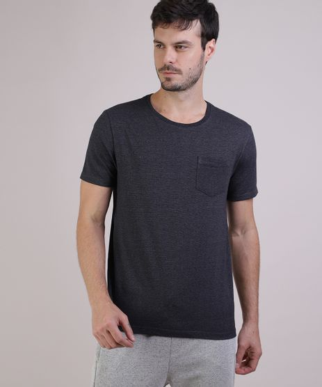 Camiseta-Masculina-Basica-com-Bolso-Manga-Curta-Gola-Careca-Cinza-Mescla-Escuro-9941894-Cinza_Mescla_Escuro_1
