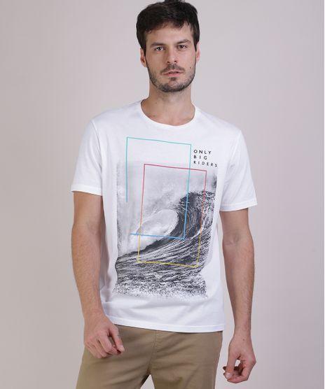 Camiseta-Masculina--Only-Big-Riders--Manga-Curta-Branca-9941908-Branco_1
