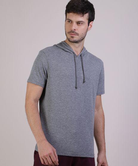 Camiseta-Masculina-com-Capuz-Manga-Curta-Gola-Careca-Cinza-Mescla-9942576-Cinza_Mescla_1