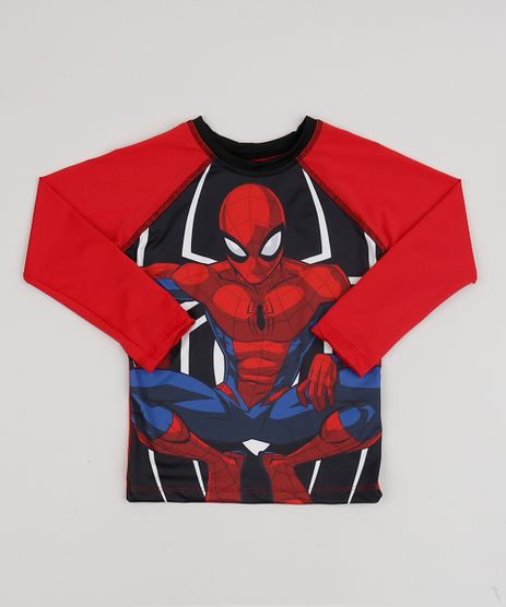 Camiseta-de-Praia-Infantil-Homem-Aranha-Raglan-Manga-Longa-com-Protecao-UV50--Vermelha-9902308-Vermelho_1