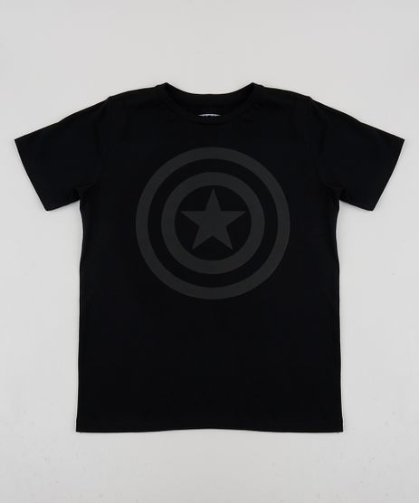 Camiseta-Juvenil-Capitao-America-Manga-Curta-Gola-Careca-Preta-9948817-Preto_1