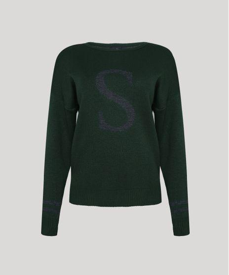 Sueter-de-Trico-Feminino-Harry-Potter-Sonserina-Decote-Redondo-Verde-9955600-Verde_1