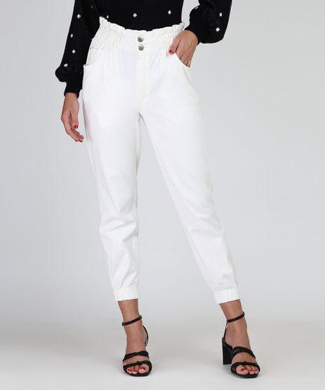Calca-de-Sarja-Feminina-Mom-Jogger-Cintura-Super-Alta-Off-White-9926862-Off_White_1