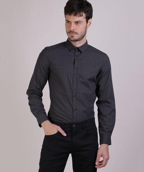 Camisa-Masculina-Slim-Estampada-Manga-Longa-Chumbo-9817460-Chumbo_1