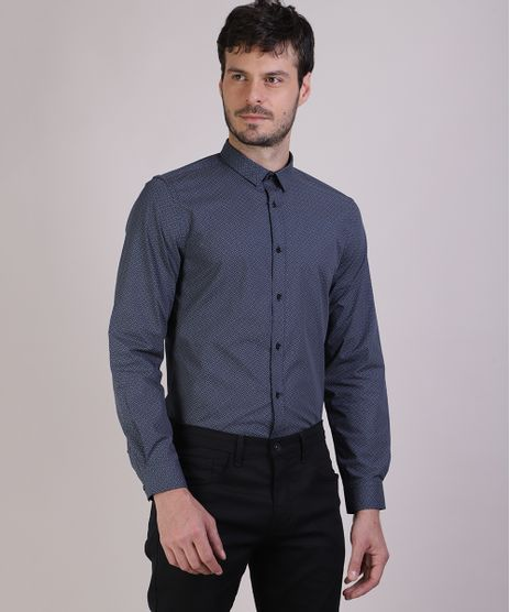 Camisa-Masculina-Slim-Estampada-Geometrica-Manga-Longa-Azul-Escuro-9817461-Azul_Escuro_1