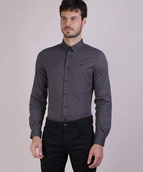 Camisa-Masculina-Slim-Estampada-Manga-Longa-Chumbo-9817474-Chumbo_1