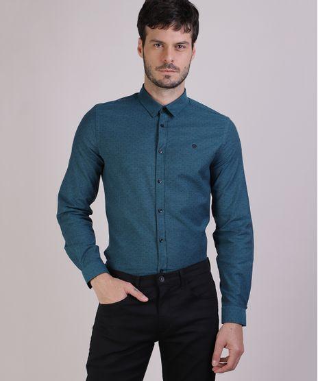 Camisa-Masculina-Estampado-de-Cruzes-Manga-Longa-Azul-Petroleo-9817475-Azul_Petroleo_1