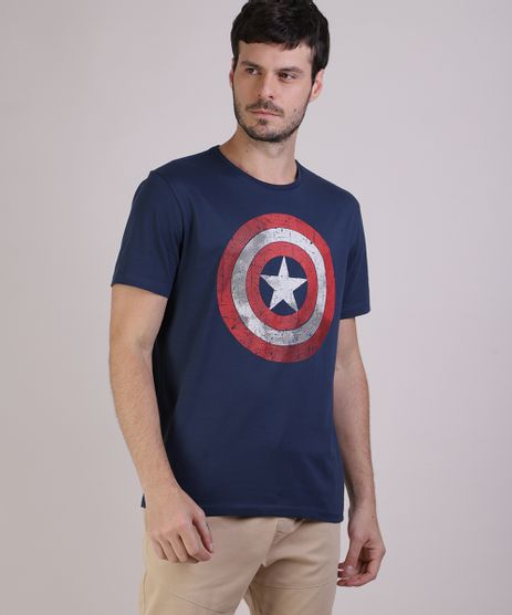 Camiseta-Masculina-Capitao-America-Manga-Curta-Gola-Careca-Azul-9512370-Azul_1
