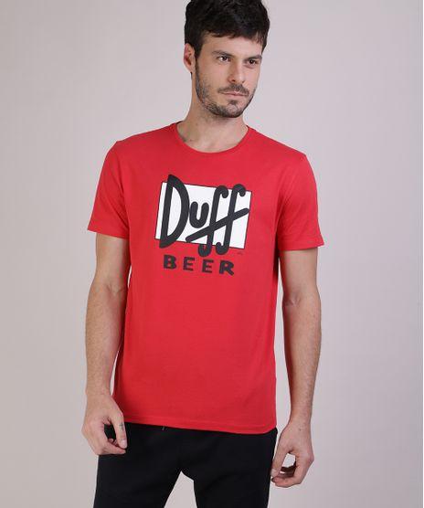 Camiseta-Masculina-Duff-Beer-Os-Simpsons-Manga-Curta-Gola-Careca-Vermelha-9512391-Vermelho_1