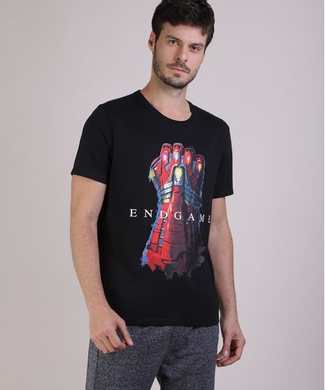 Camiseta-Masculina-Estampa-Iron-Man-Manga-Curta-Gola-Careca--Preta-9861175-Preto_1