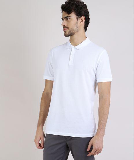 Polo-Masculina-Basica-Comfort-em-Piquet-Manga-Curta-Branca-9597168-Branco_1