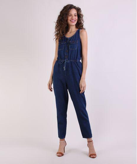 Macacao-Jeans-Feminino-com-Bolsos-Sem-Manga-Azul-Escuro-9949043-Azul_Escuro_1