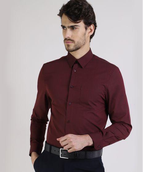 Camisa-Masculina-Comfort-com-Bolso-Manga-Longa-Vinho-8826559-Vinho_Escuro_1