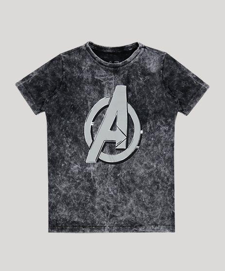 Camiseta-Juvenil-Os-Vingadores-Manga-Curta-Gola-Careca-Preto-9945199-Preto_1