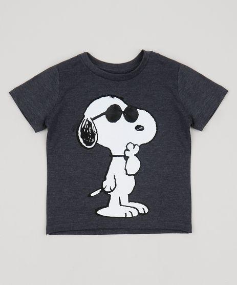 Camiseta-Infantil-Snoopy-Manga-Curta-Gola-Careca-Chumbo-9953514-Chumbo_1