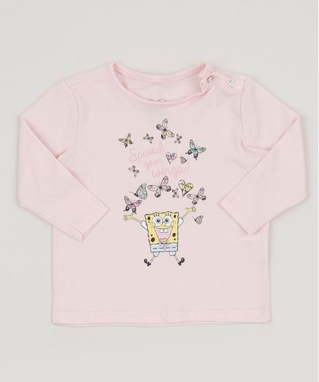 Blusa-Infantil-Bob-Esponja-Manga-Curta-Rosa-Claro-9955502-Rosa_Claro_1